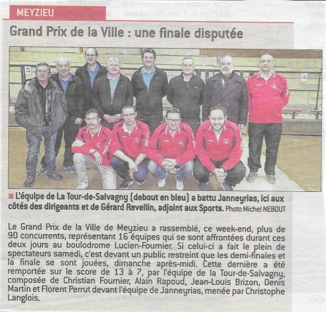 25/02/2017 : Grand-Prix de Meyzieu (16 Quadrettes TD Promotion)